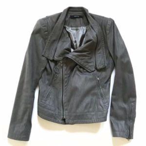 Ark & Co Moto Asymmetrical Zip Jacket Gray Large